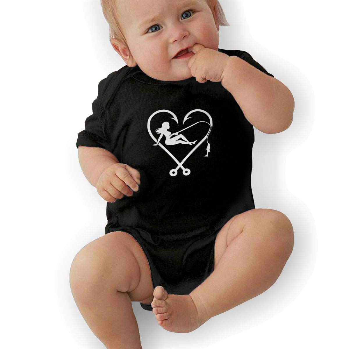 QUCHEN I Love Fishing Logo Baby Boys Girls Long Sleeve Bodysuits Rompers Outfits 6-48 Months
