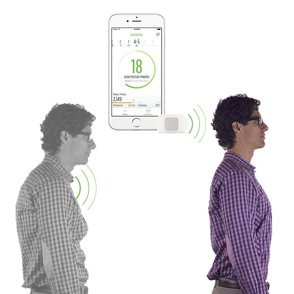 Amazon.com: Lumo Lift: The First Wearable Posture Coach. You slouch, it  vibrates! A posture corrector that's perfect for sitting or working at  computers.