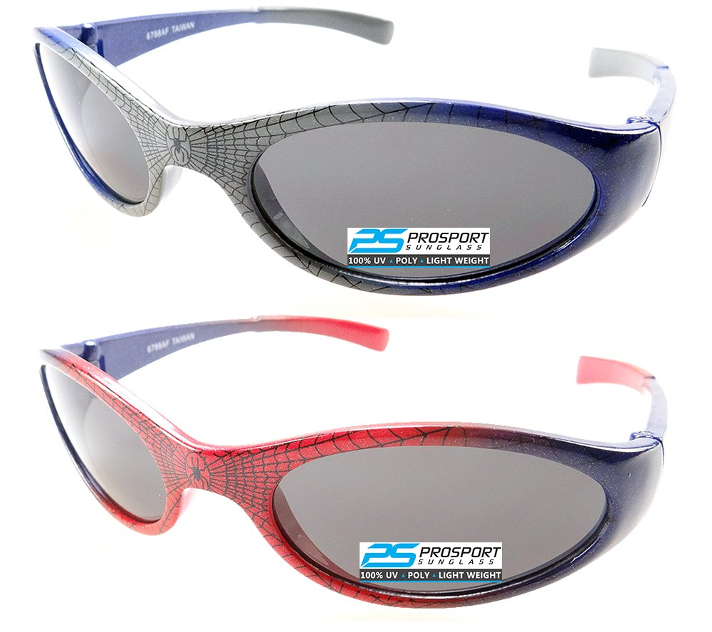 2 pairs of Spiderman Sunglasses for Boys