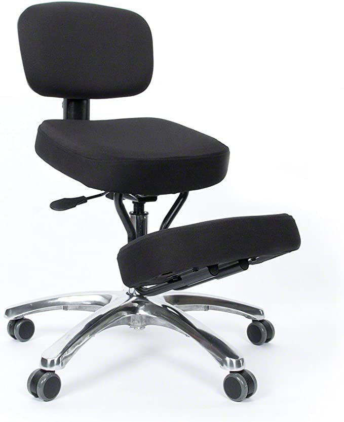 black wellbeing ergonomic kneeling posture office study chair UK seller