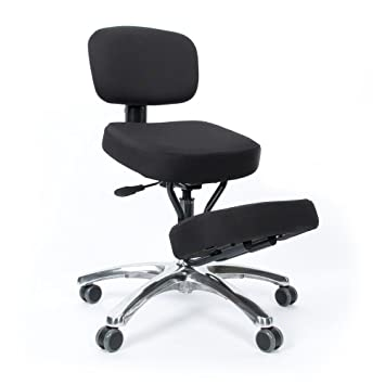 jobri jazzy kneeling chair with back support black amazon co uk