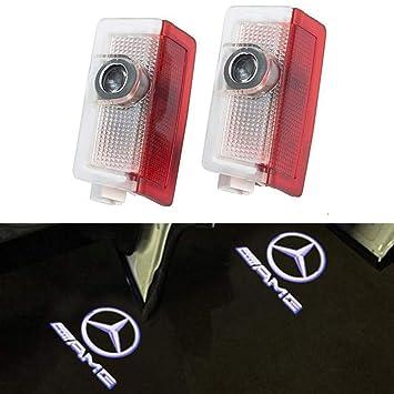 LIKECAR 2 St/ück Autot/ür Logo T/ürbeleuchtung Projektion Licht Einstiegsbeleuchtung Projektor E-AMG