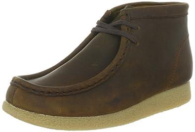 10c472dfe927d Clarks Originals Kids Wallabee Boot, Chaussures montantes mixte enfant -  Marron (Brown waxy)