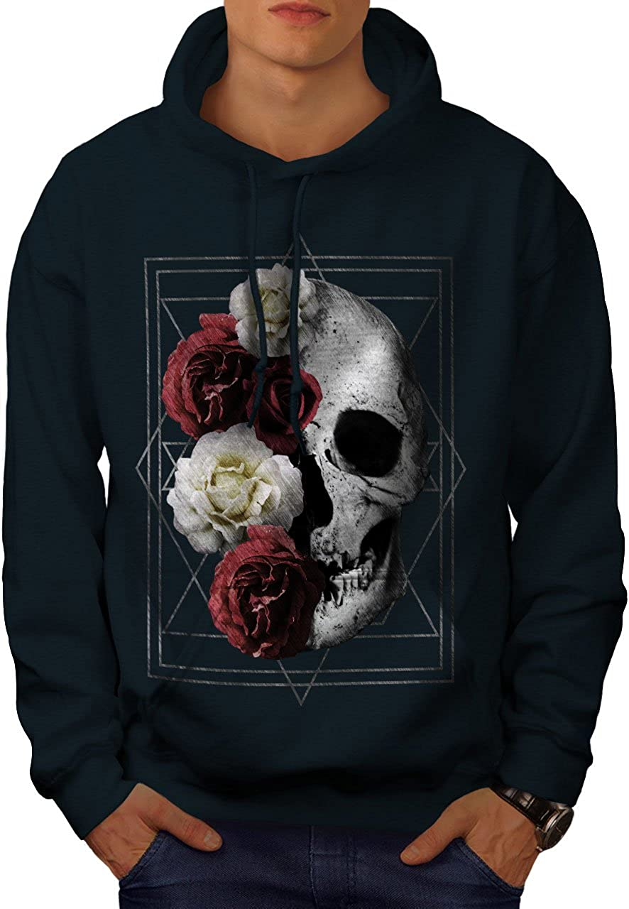 wellcoda Skull with Mask Mens Sweatshirt Triangle Casual Jumper