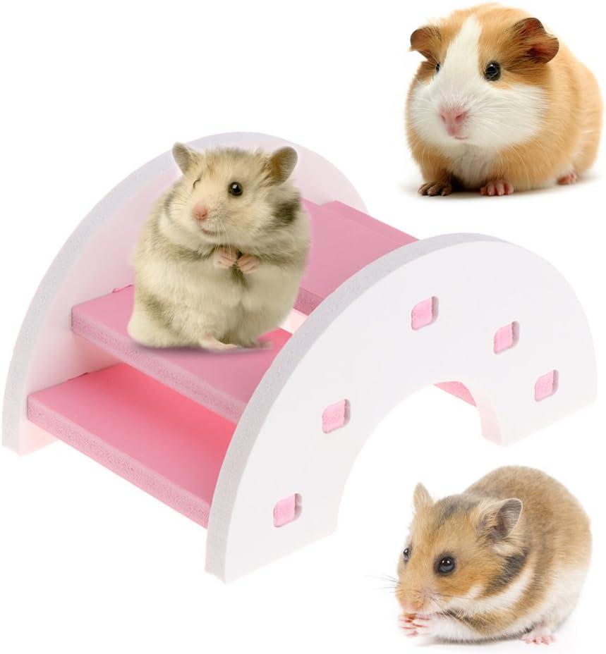 blau CADANIA Hamster Br/ücke aus Holz Wippe kleine Tier Haustiere Meerschweinchen Eichh/örnchen lustiges Spielzeug