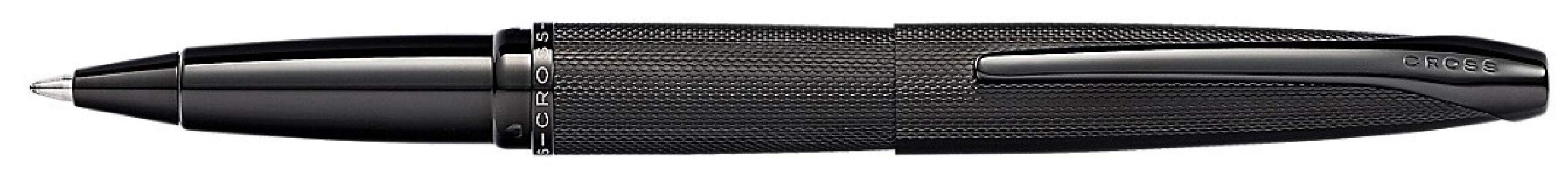 Cross ATX Brushed Black PVD Selectip Rollerball Pen with Etched Diamond Pattern by Cross (Image #1)