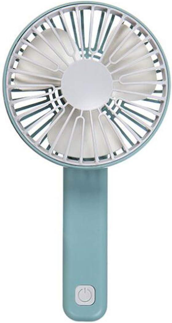 Mini Hand Held Charging Small Fan Portable Silent Multi Speed Fan Folding USB Charging Foldable Hangable Househeld Tool Summer,Pink