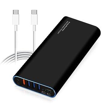 Amazon.com: podercamino 98 W PD Cargador portátil USB-C ...