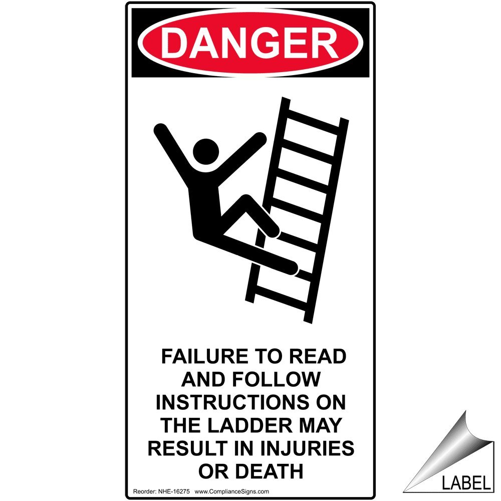 Amazon Read And Follow Instructions On The Ladder Label With