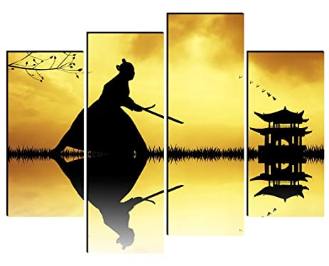 Amazon.com: SmartWallArt - Figure Paintings Wall Art Bushido Spirit ...