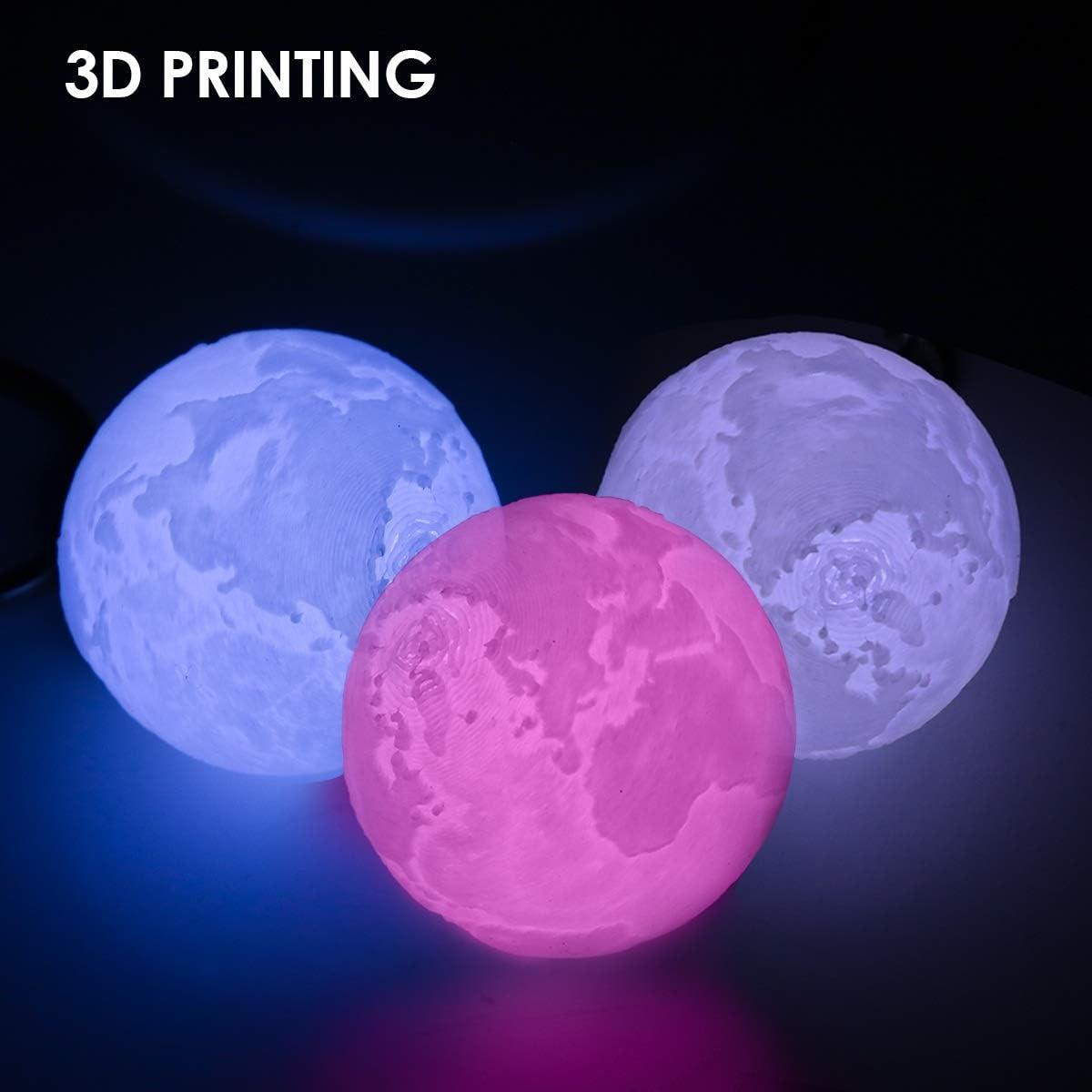 Colorful 3D Printing Keychain Lamp Key Chain Pendant Light Battery Powered Key Holder Bag Decoration Pendant Color : Earth+Jupiter