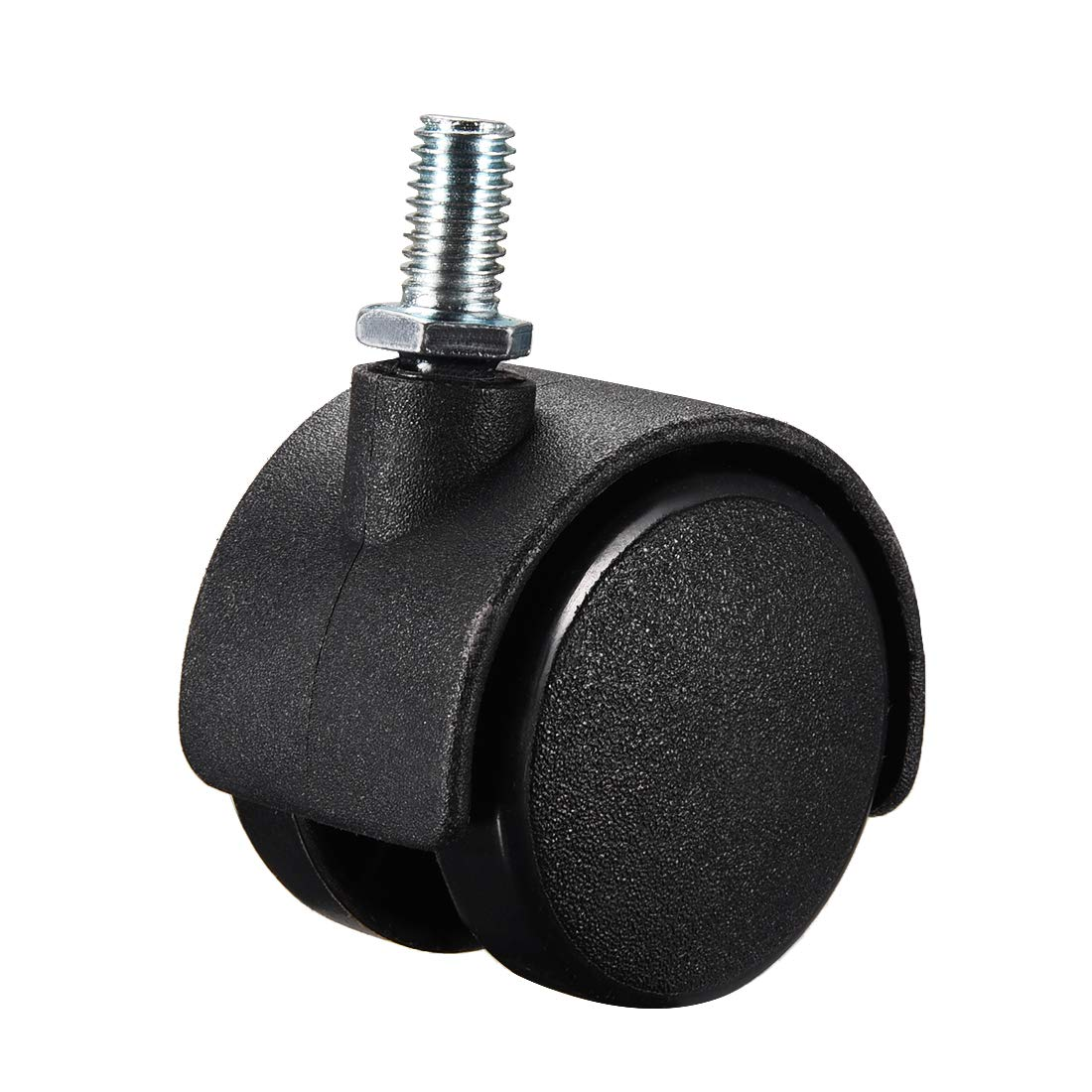 uxcell Furniture Casters 1.5 Inch Nylon M8 x 15mm Threaded Stem Swivel Caster Wheels 33lb Capacity Each Wheel 5 Pcs