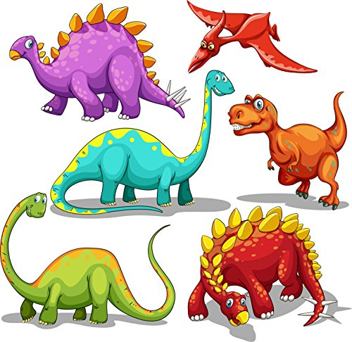Tattoos for Kids 72 Pack Dinosaur Temporary Tattoos 2'' by 2'' for Birthday Party Supplies