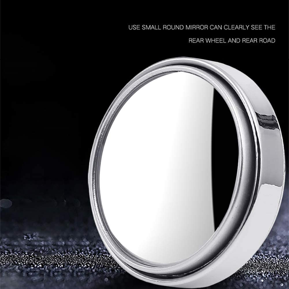 Atrumly 2pcs//set Car Blind Spot Mirror 360 Degree Adjustable Circular Blind Spot Mirror for Parking Rear View Mirror