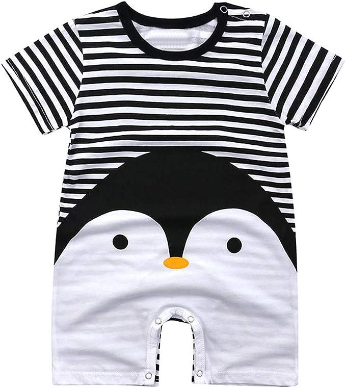 TTLOVE Neugeborene Sommer Briefdruck Strampler Motive Jumpsuit Kleidung Baby Body Kurzarm f/ür Jungen und M/ädchen Romper Cotton Strampler