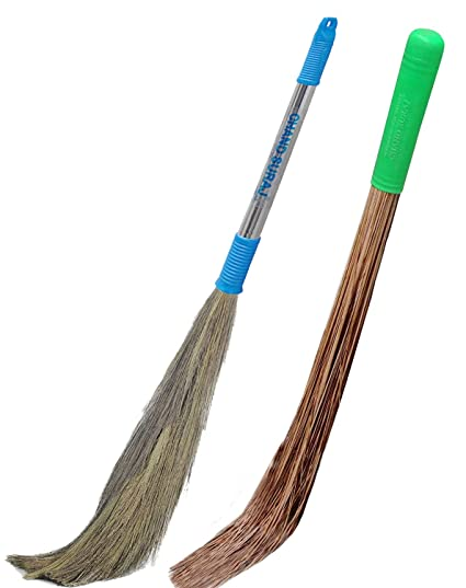 Chand Suraj Wet & Dry Broom Stick Combo For Floor Cleaning