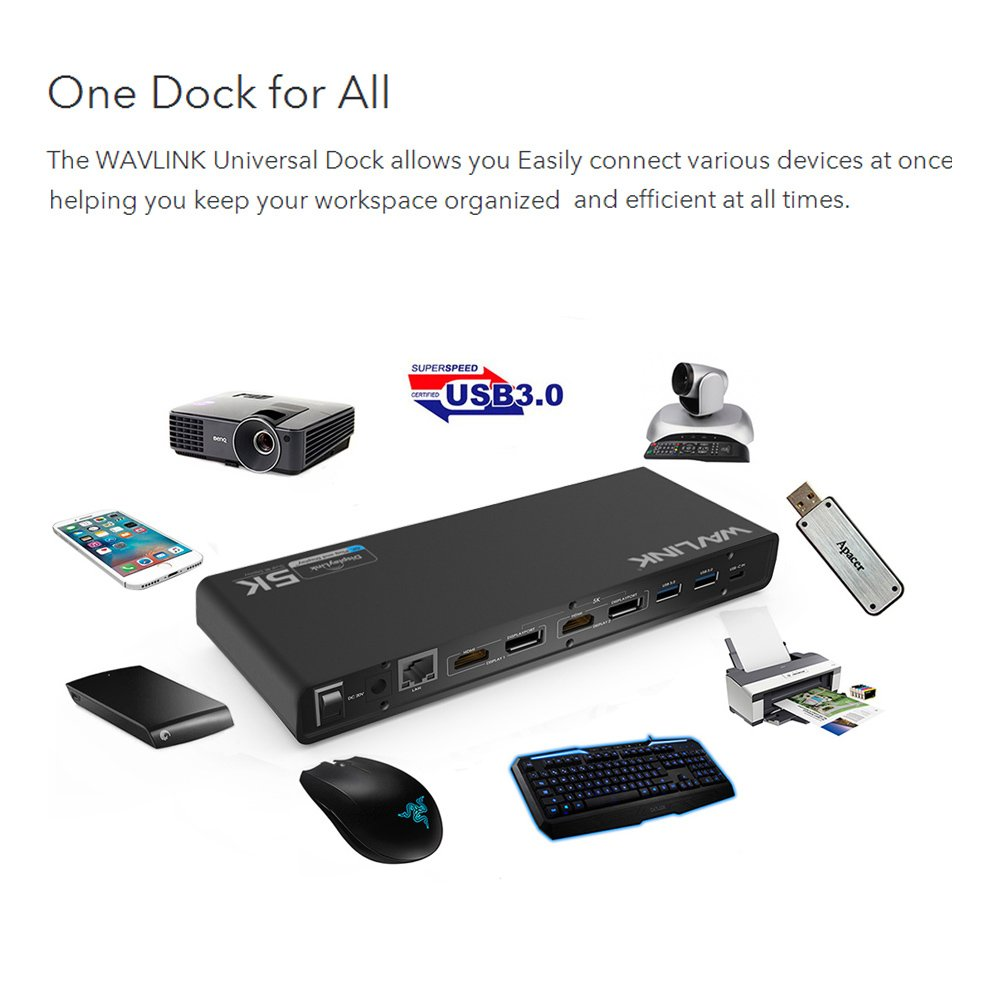 Wavlink USB C,Type-A Dual 4K Laptop Docking Station,5K/ Dual 4K @60Hz Video Outputs Dual Monitor for Windows,(2 HDMI & 2 DP, Gigabit Ethernet, 6 USB 3.0,) DL6950-PD Function Not Supported by WAVLINK (Image #5)