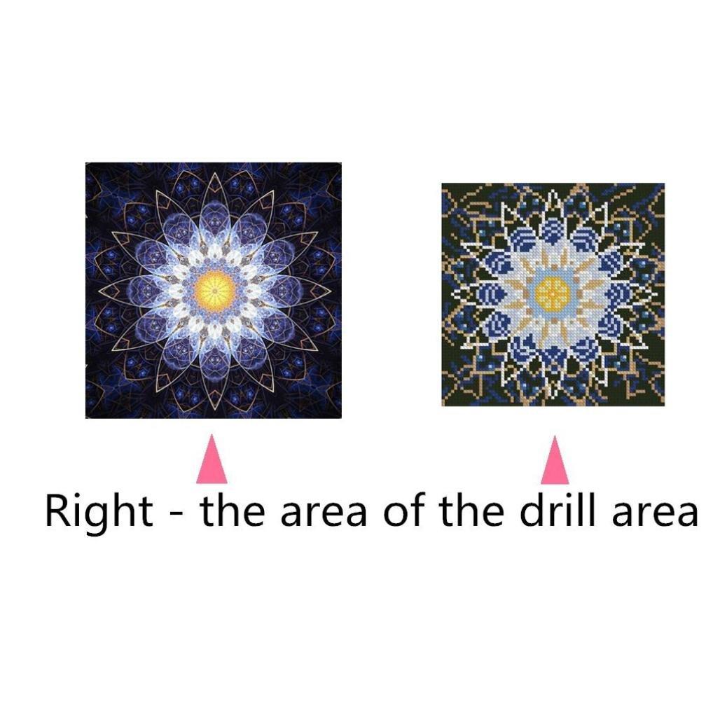 F DIY 5D Diamond Painting Staron Full Drill Diamond Painting Mandala Cross Stitch Kit 5D Diamond Embroidery Painting Indian DIY Home Decor