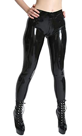 7f65e2a2eed86 Amazon.com: AvaCostume Womens Latex Rubber Pants Jeggings: Clothing