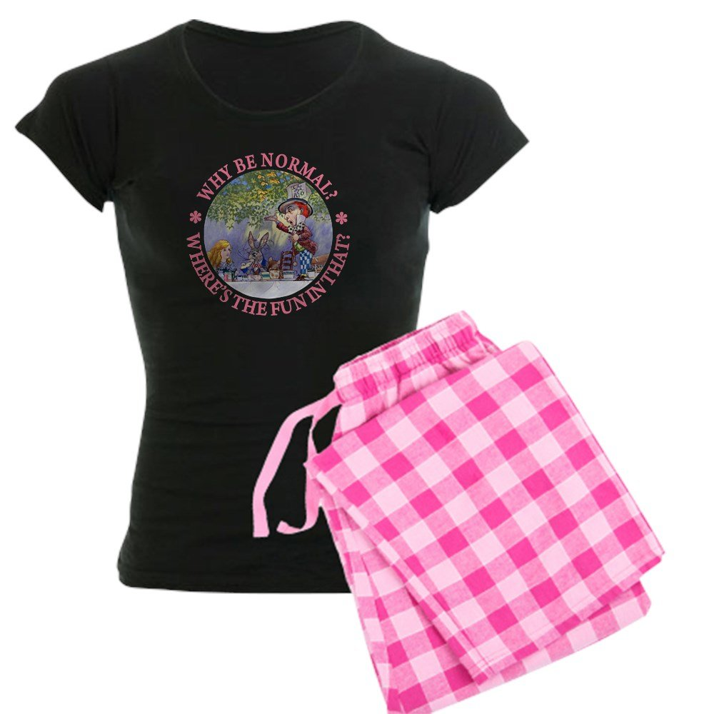 Amazon.com: CafePress MAD HATTER - WHY BE NORMAL? - Womens Novelty Cotton Pajama Set, Comfortable PJ Sleepwear: Clothing