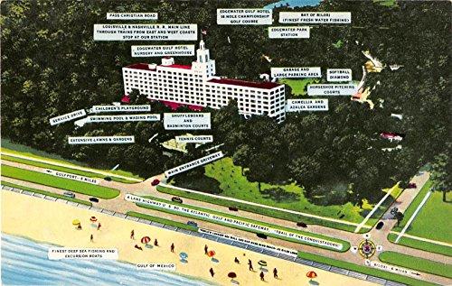 Edgewater Park Mississippi Edgewater Gulf Hotel Vintage Postcard J14165