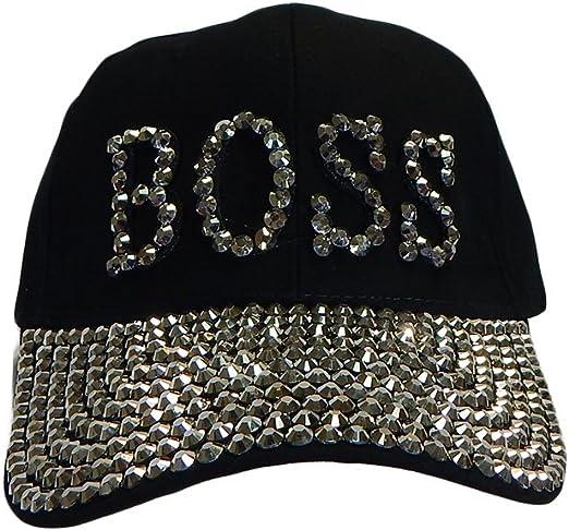 Boss Bling Rhinestone Beanie Hat Choose Your Color Warm Winter Glitter Women/'s