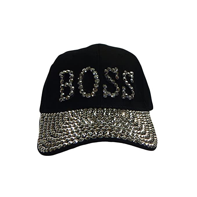 white Womens Men's Rhinestone Crystal Baseball Cap Fashion Bling Adjustable Hats Hats