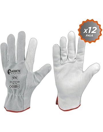 Confezione da 12 guanti in fiore di vitello bianco orlato con dorso in  crosta taglia 10 b4a7607d4d26