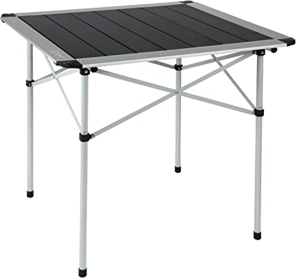 Yellowstone Table Pliante Noir Argent 70 X 70 X 70 Cm