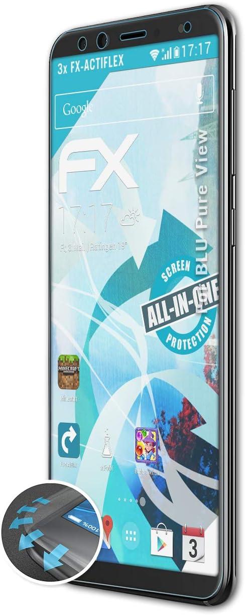 atFoliX Película Protectora Compatible con BLU Pure View Protector ...