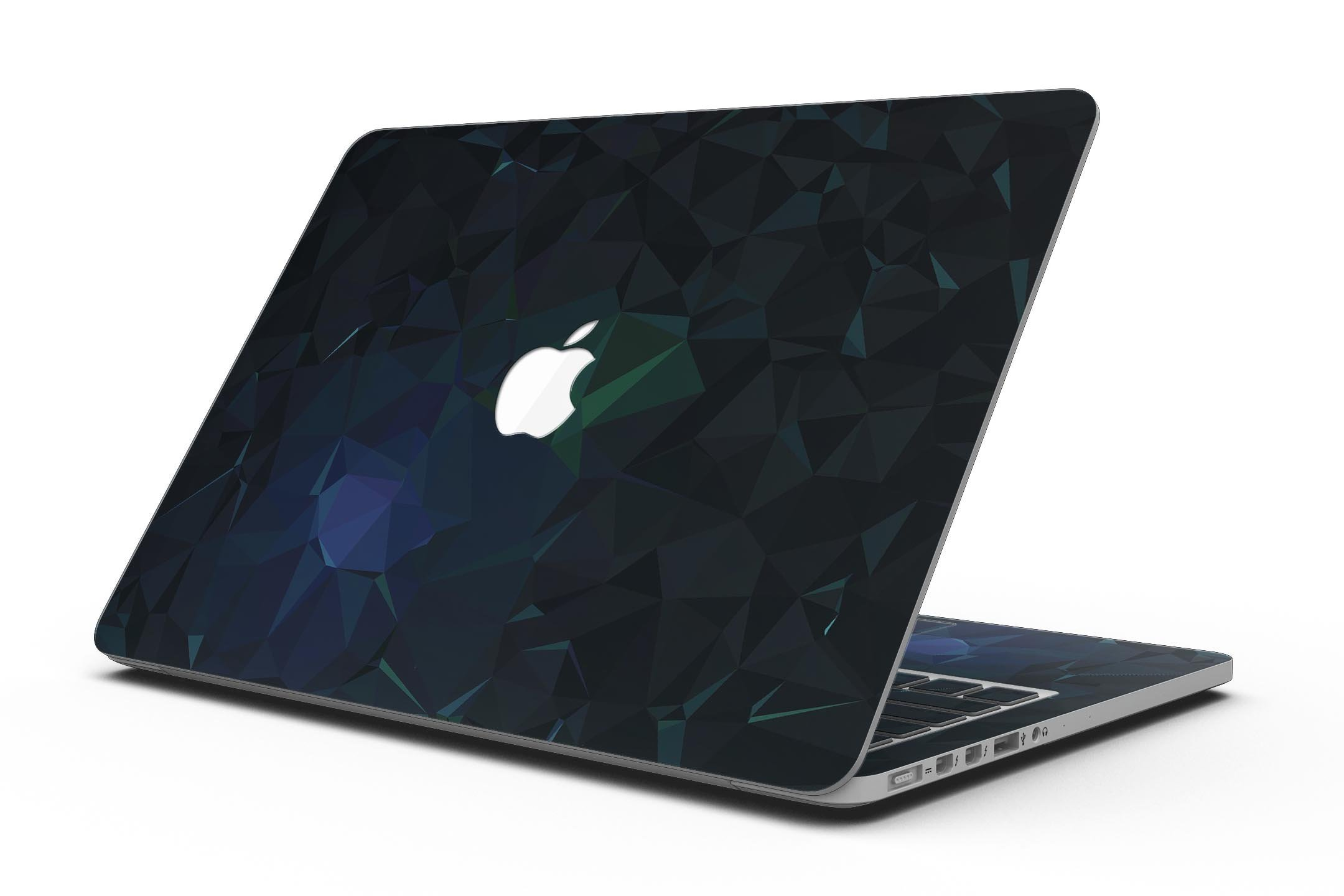 Abstract Dark Blue Geometric Shapes - MacBook Pro with Retina Display Full-Coverage Skin Kit