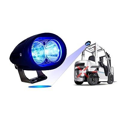 Blue Forklift Led Light Warehouse Safety Warning Lamp Spot Offroad Race 12V 48V: Automotive
