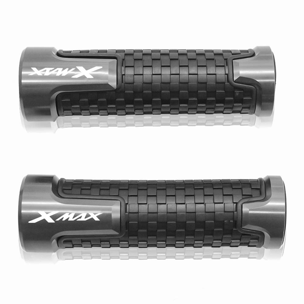 22mm 7//8 Manopole manubrio Per Yamaha X MAX X-MAX Xmax 125 250 300 400 Nero