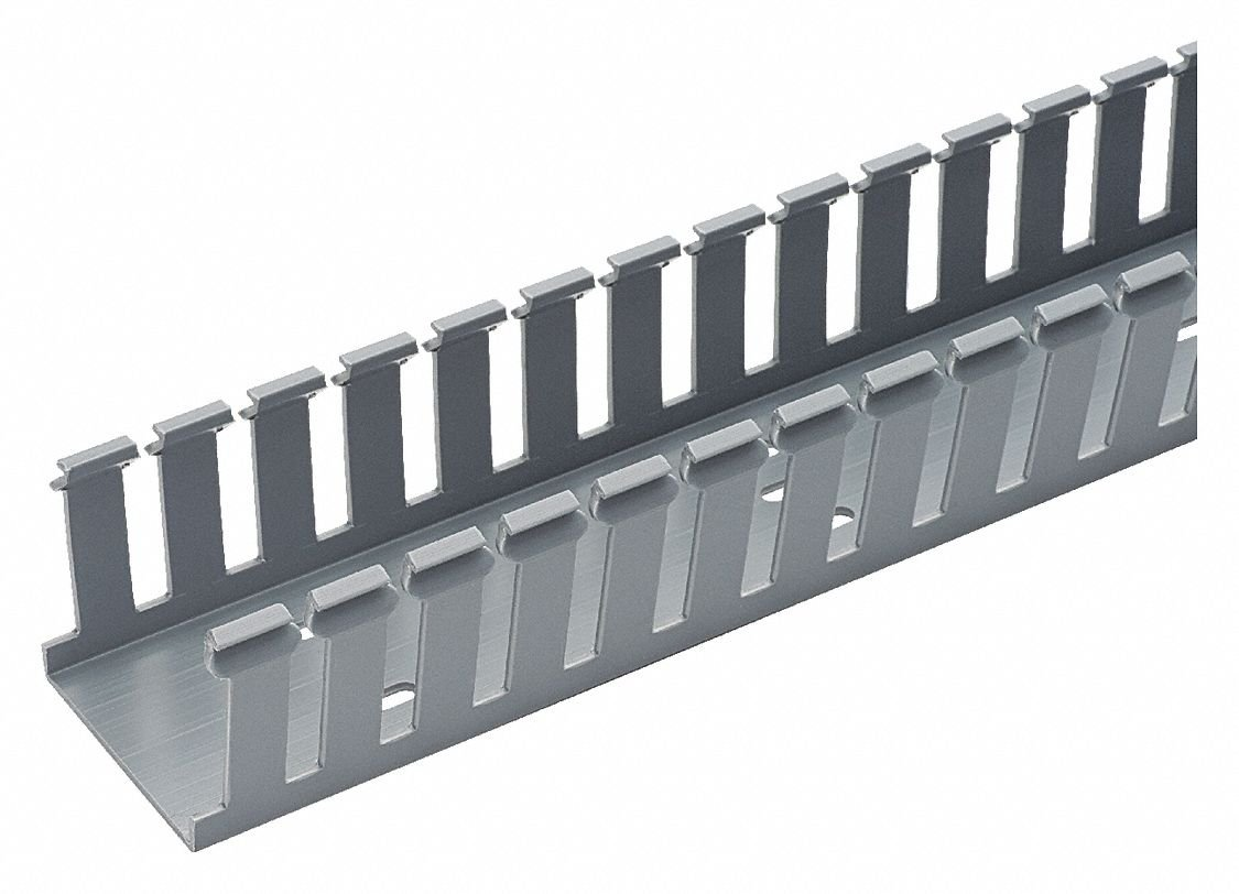 Panduit G1X1.5LG6-A Type G Wide Slot Wiring Duct with Adhesive Tape, PVC, Light Gray (20-Pack)
