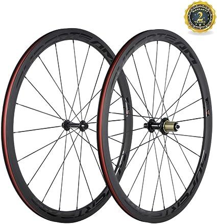 50mm clincher carbon fiber road front wheel alloy brake surface 700C fast ship