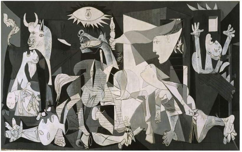 Qilo Picasso Rompecabezas for Adultos 500/1000/1500 Pieza Blanco y Negro Puzzles, Cuadro Guernica de fama Mundial, patrón de Arte de la Familia Decoraciones, único Regalo de cumpleaños