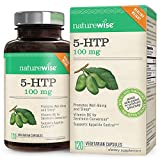 NatureWise 5-HTP 100 mg, Supports Appetite Suppression, Weight Loss, Mood Enhancement, Natural Sleep Aid, Gluten-Free, Vitamin B6, Non-GMO, 120 Vegetarian Capsules (Packaging May Vary)