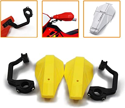 Yellow An Xin Motorcycle Brush Universal Handguards Hand Brush Guards Protector For Suzuki KX125 KX250 KX250f KX450f KLX250 Fat Bar Motorbike Motocross Dirt Bike