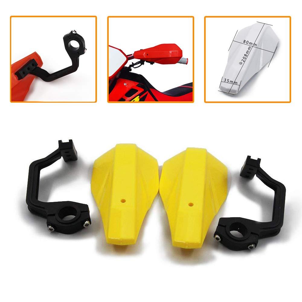 Motocross Brush Universal Handguards Hand Guards For Suzuki KX125 KX250 KX250f KX450f,KLX250 Fat Bar Motorcycle Dirt Bike Yellow