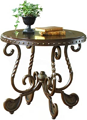 Bernards 9755 Metal Etched W/Nailhead End Table