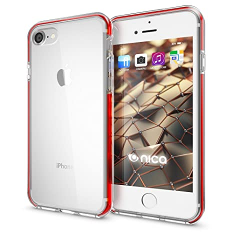 coque transparente iphone 8 rouge
