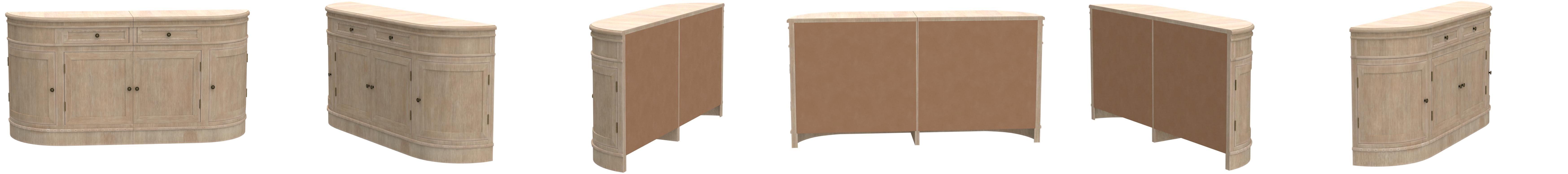 vidaXL Buffet Kommode Schrank Aufbewahrungsschrank Wohnzimmerm/öbel mit 4 T/üren Schlafzimmer Eingang Haus Innen 134 x 30 x 68 cm