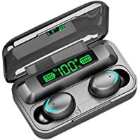 Saniswink1 Bezprzewodowe słuchawki Bluetooth 5.0, F9-5C TWS LED inteligencja akumulator wbudowany mikrofon zestaw…