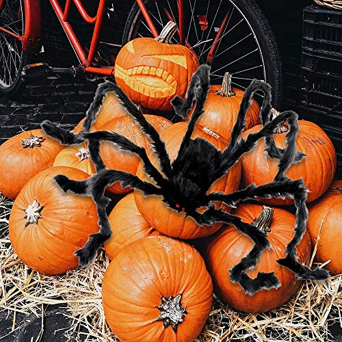 Extra Large Decoration for Outdoor or Indoor Giant Spider 6.6 ft//78 in Fake Hairy Halloween Spider