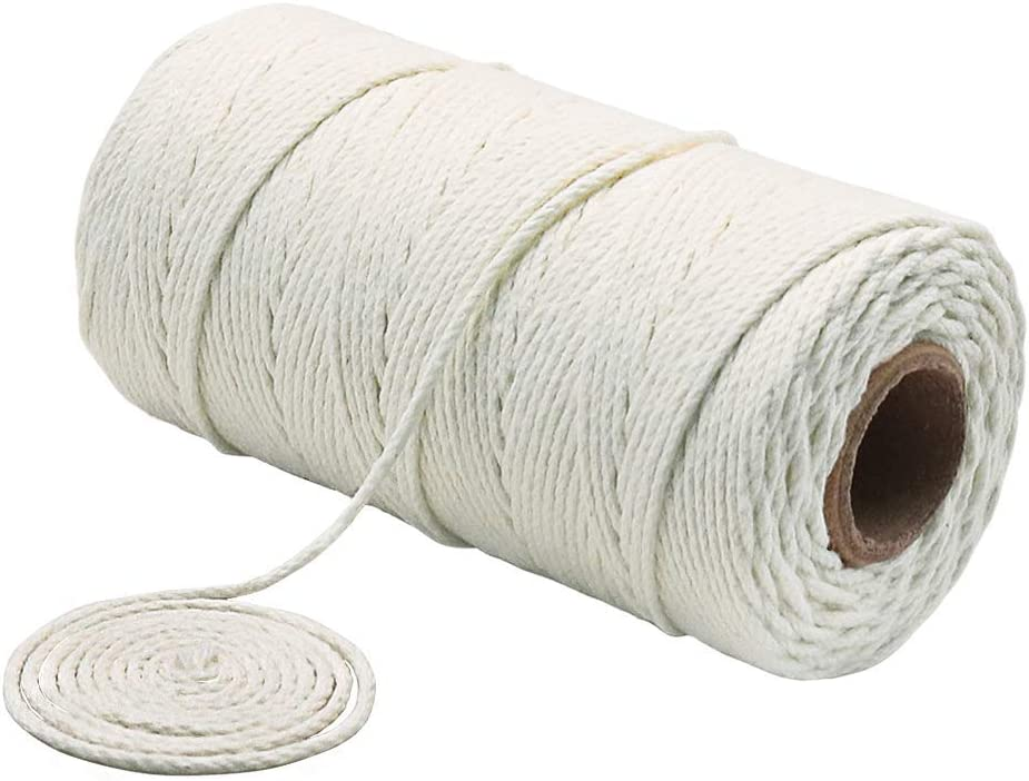 Tenn Well Cotton Cooking String, 328 Feet 1.5mm Food Safe Kitchen Twine for Cooking, Tying, Trussing, Roasting