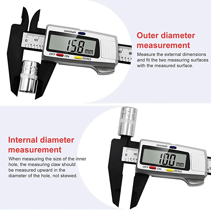 Electronic Digital Display Vernier Caliper Digital Measuring Instrument op