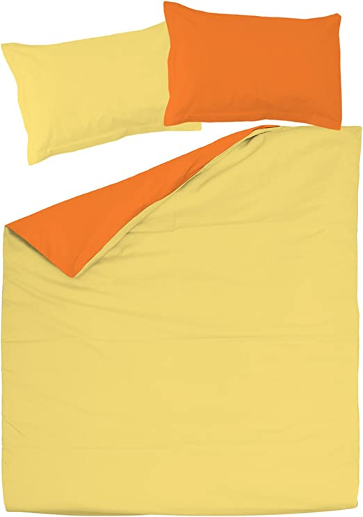 SoulBedroom Orange & Yellow (Naranja y Amarillo) Juego de Cama ...