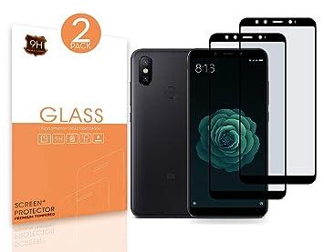 Protector de Pantalla Xiaomi Mi A2. [2 Packs]. Dureza 9H, sin ...