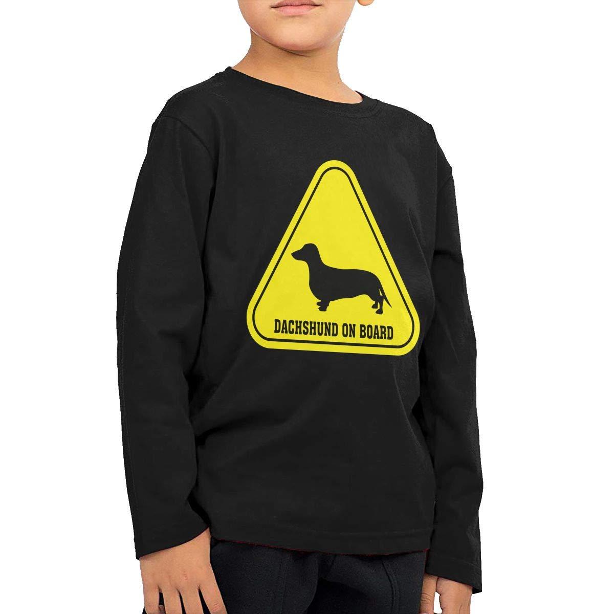 Baby Girls Kids Dachshund Clip Art ComfortSoft Long Sleeve Shirt