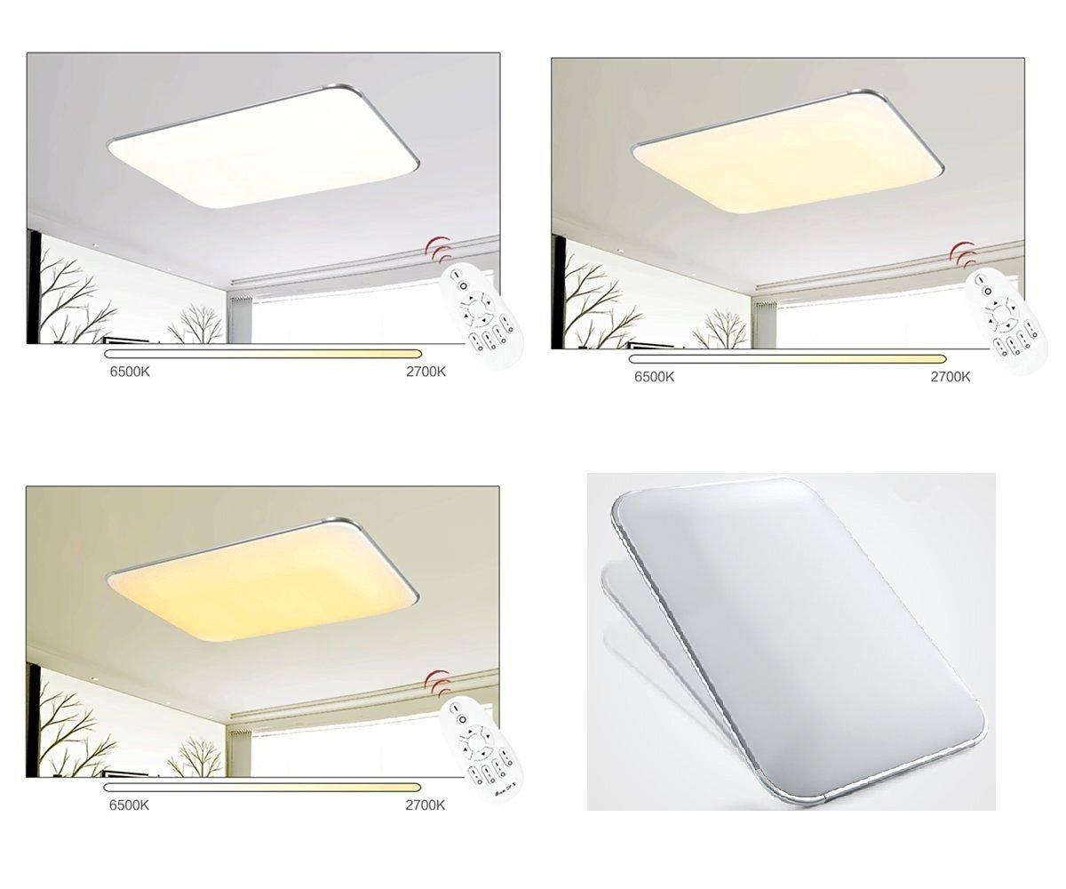 48W LED Regulable Ultraslim Moderno Lámpara de techo dormitorio Cocina Piso Salón Lámpara de pared Lámpara Ahorro De Energía Luz